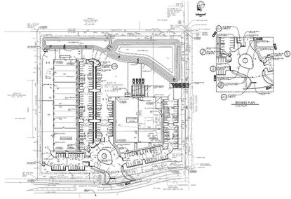 A site plan for a Sanford warehouse for Del-Air Electrical Services.