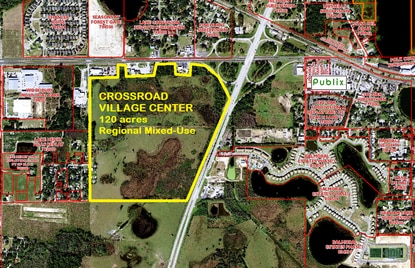 The 120-acre Crossroad Village Center mixed-use district would be at the intersection of U.S. 27 and U.S. 17-92.