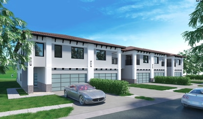 FID Capital Group will start verticle construction by the end of the month on 101 Modern Mediterranean townhomes with views of the first and 18th hole of the Providence golf course.