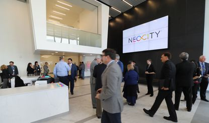 The OC Building ribbon-cutting ceremony and grand opening at NeoCity in Kissimmee, on Friday, October 11, 2019. The building will house the BRIDG and imec USA corporate HQs, and is also open for other tenants. (Ricardo Ramirez Buxeda/ Orlando Sentinel)