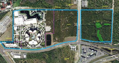 The owners of the Caribe Royale resort east of Walt Disney World have filed a land-use plan seeking changes for four parcels it owns adjacent to one another along State Road 536 and South International Drive.