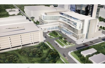 A rendering of the Orlando Health Jewett Orthopedic Hospital, a 195,000-square-foot inpatient facility next to the Columbia Medical Center complex on Sligh Boulevard.