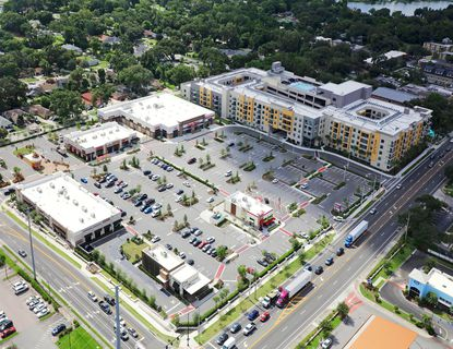 The 57,747-square-foot Plaza Ecco shopping center is anchored by Publix. Other tenants include Starbucks, Twistee Treat, Jersey Mike's Subs and Sport Clips.