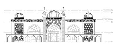 A front elevation of the new larger mosque planned for Ruby Lake Road.