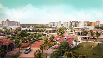The Flamingo Crossings mixed-use development is served by a 200,000-square-foot town center.