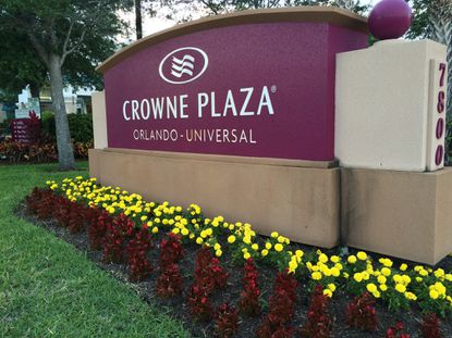 The Crowne Plaza Orlando Universal Hotel, at 7800 Universal Blvd.
