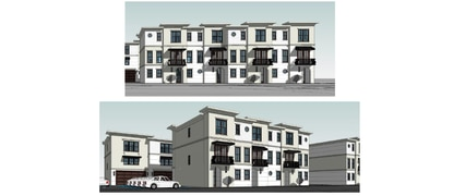 Venue Investments has filed plans calling for a 17-unit luxury townhome community in Orlando's SODO district on the site of a former auto body shop.