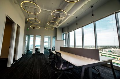The e|spaces Orlando location offers private offices, meeting rooms and co-working spaces in the city's newest office tower.