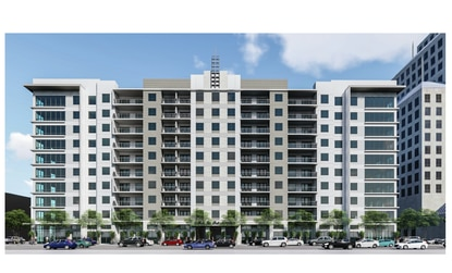 Orlando's planning staff is recommending approval for a new 10-story apartment building at 336 N. Orange Ave. - on the condition that half of the ground floor along Orange Avenue be used for retail or dining.