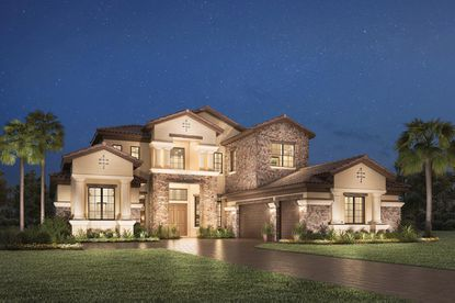 A rendering of a home at Casabella at Windermere, a luxury residential community developed by Toll Brothers.