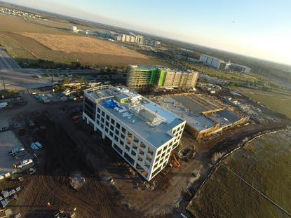 The beginnings of Town Center in Lake Nona