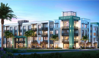 A rendering of the proposed 310-unit Alexan North End apartments for part of the Calvary Assembly of God property in Orlando.