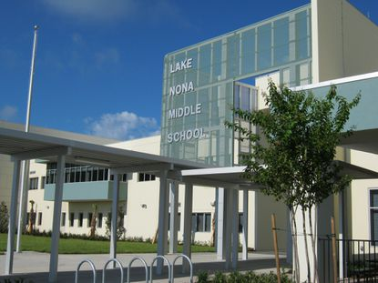 The award-winning Lake Nona Middle School, designed by BRPH Architects-Enginners, is one of four prototype designs under consideration for Osceola County Schools.