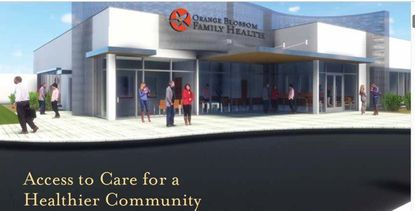 A rendering of the new public health facility planned in west Orlando by Orange Blossom Family Health.