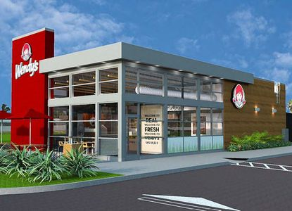 Rendering of the proposed Wendy's with drive-thru on part of Leon Capital Group's property along W. Fairbanks Avenue.