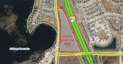 The landowner is seeking to rezone 17 acres within Horizon West's Hickory Nut community (Village H) with plans for a 332-unit multifamily complex.