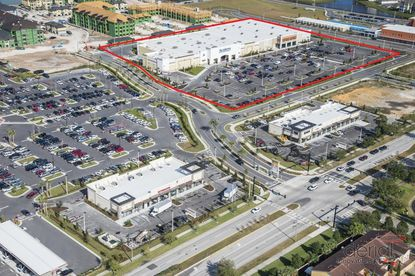 Outlined in red is the portion of Gardens on Millenia that was recently acquired by a Houston-based family real estate investment company. The development borders Millenia Boulevard.