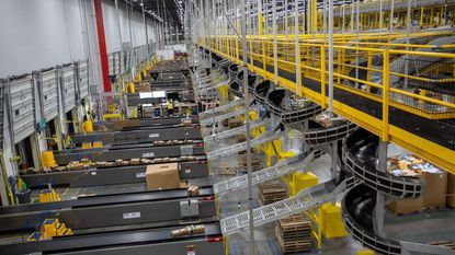 Inside the Amazon fulfillment center in Lake Nona.