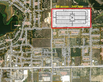 Clearwater developers Mike Galvin and Tom Chapman want to build this 349-lot subdivision on 80 acres along Buck Moore Road in Lake Wales.