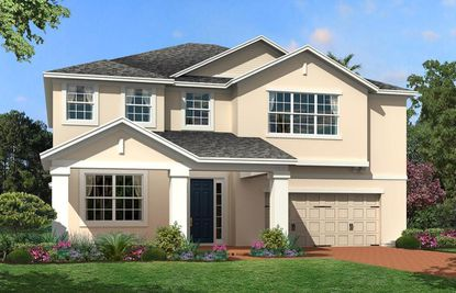 A rendering of the Glenwood-model home under construction now in Winter Garden, recently bought by NFL player Sammy Watkins.