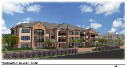 A rendering of the planned Woodwinds Apartments in Clermont.