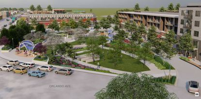 The OAO District attempts to incentivize redeveloping a prominent stretch of Orange Avenue, crossing Orlando Avenue and West Fairbanks Avenue. This is not a proposed project, but a rendering of a possible development scenario.