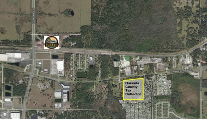 Osceola County is planning a 19-acre annex on S. Orange Blossom Trail/U.S. 17-92 that will include a new tax collector's office, driving course, fire station and community center.