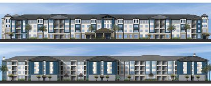 Elevations of Park Square Commercial's planned Arya independent living facility in Ocoee.