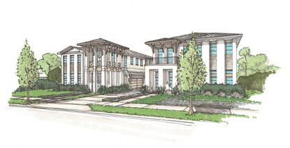 Rendering of the proposed townhome project set to rise between land between Swoope and Canton avenues in Winter Park.
