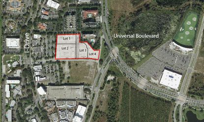 A Preliminary Subdivision Plan the developer wants to subdivide a 7.21-acre plot of land into four commercial lots for three new hotels and a parking garage that can accommodate more than 600 spaces.