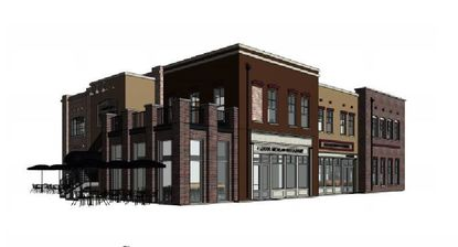 A rendering of the office and restaurant building planned at 360 Plant St. in Winter Garden.