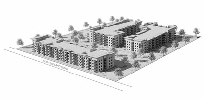 Carlton Land has scaled back its plans for the Old Vineland Road site to reduce the number of rental units by nearly 40%.