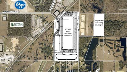 Scannell Properties is seeking to build nearly 1 million square feet of industrial space near where Amazon and Kroger/Ocado Solutions recently opened warehouse facilities.