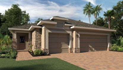 Hanover Family Builders will offer nine floorplans at Sky Lakes, including one with a 3-car garage.