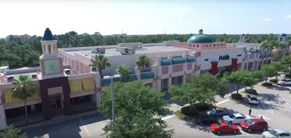 Partial aerial view of the Publix-anchored Regency Village shopping center on Vineland Avenue.