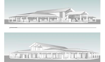 Rendering of the planned new community center building in Venetian Gardens Park in Leesburg.