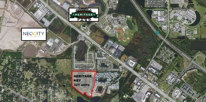 The owner of Heritage Key has filed plans to build apartments on the remaining 31.3 acres outlined in red.