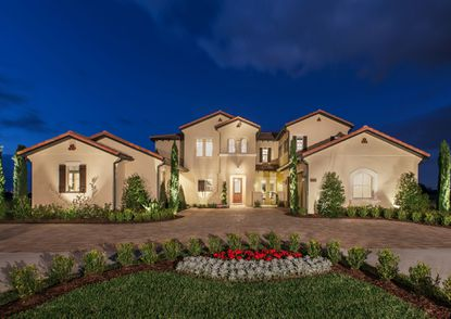 This is a photo of the Maranello model home in the Spanish Colonial elevation. Brazilian country music star Welson David de Camargo recently purchased a customized version of the home in Lakeshore community of Winter Garden.