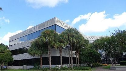 A partial view of the recently acquired office building at 604 Courtland St. in Orlando.