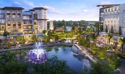 A conceptual rendering for illustrative purposes of the proposed $1 billion mixed-use development. Plans for the site are subject to further changes.
