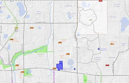 Illinois-based Inland Group acquired three parcels totaling 45.72 acres on E. Colonial Drive (highlighted in blue) that include the high-profile student housing community The Retreat at Orlando, located at 11037 Retreat Ave. The property, which opened in July 2014, was Orlando's first housing neighborhood built for college students.