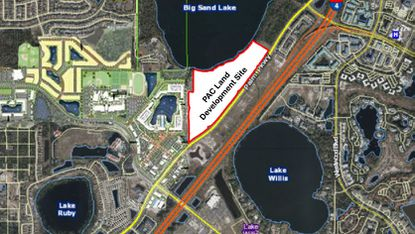 The Winter Park-based developer is seeking to build its next project on about 55 acres of developable land next to O-Town West.