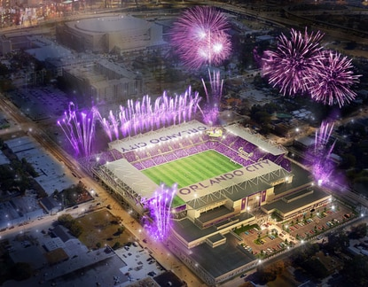 Construction of Orlando's new soccer stadium took a big step forward as bids for subcontractors were issued.
