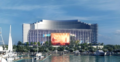 Biloxi UMUSIC hotel brand will feature views of a large music entertainment venue and a luxury marina.