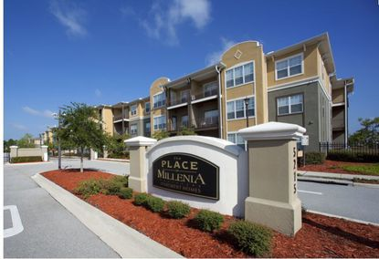View of The Place on Millenia Boulevard Apartment Homes, recently acquired by Utah-based Millburn & Company.