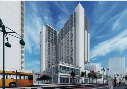 Fort Myers-based Coner Capital is proposing a new mixed-use tower downtown anchored by a Radisson Blu hotel.