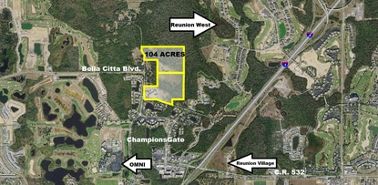 The owners of this 104-acre site between ChampionsGate and Reunion Resort is seeking a land use change to allow for tourism related development.