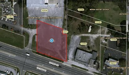 Located in Leesburg near the intersection of U.S. 441 and Blossom Lane, the parcel was recently acquired by AutoZone.