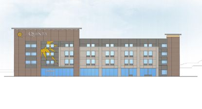 An elevation of the La Quinta Del Sol, one of two hotels proposed for 3.32 undeveloped acres in the 11500 block of S. International Drive.