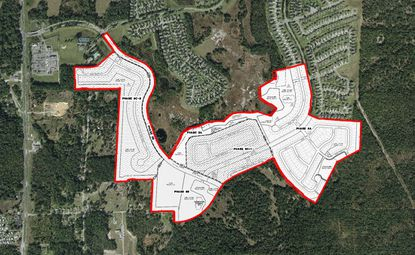An updated preliminary subdivision plan where Lennar Homes wants to develop 352 homes.